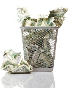 כסף בפח זבל